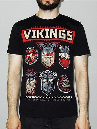 ФутболкаVikings Born to Warrior
